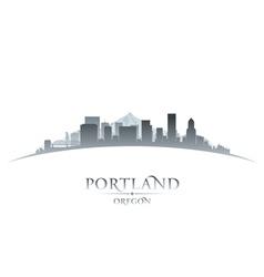 Portland Oregon city skyline silhouette vector image