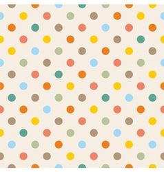Seamless colorful polka dots pattern vector image