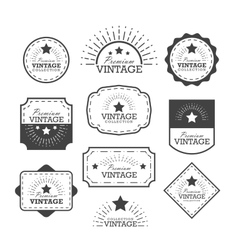 Set vintage labels and frame vector image