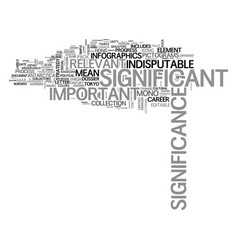 Significance word cloud concept vector