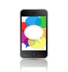 Smart phone message icon vector