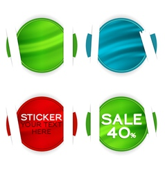 stickers elements vector image