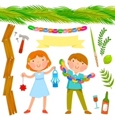 Sukkot collection vector