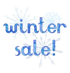 Winter sale advertising background vector