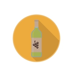 Icon of alcohol bottle with good white wine vector