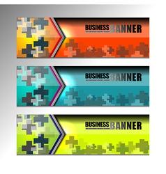 Business banner web design vector