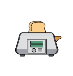 Symbol toaster icon for web site line art vector