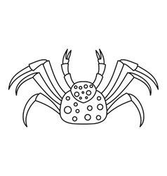 Dotted crab icon outline style vector