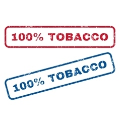 100 percent tobacco rubber stamps vector