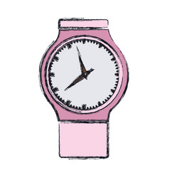 Color blurred graphic of pink female clock vector