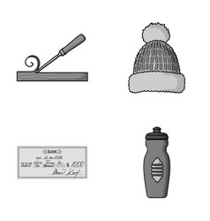 Carpenter finance and other monochrome icon in vector