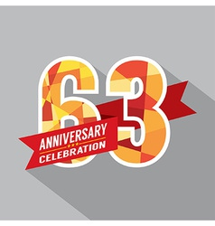 63rd years anniversary celebration design vector