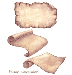 Parchment set vector