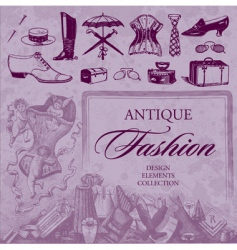 Fashion antique set vector