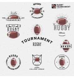 Rugby badges logos and labels for any use vector
