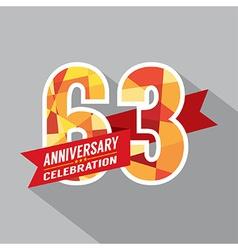 63rd years anniversary celebration design vector