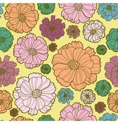 Floral botany pattern vector