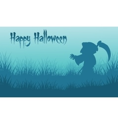 Happy halloween warlock backgrounds silhouette vector