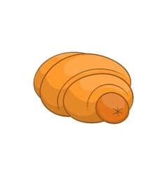 Sausage roll icon in cartoon style vector