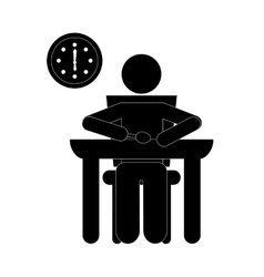 Man eating icon vector