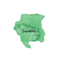 Abstract suriname map vector