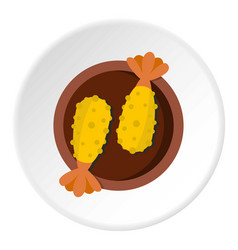 Asian food icon circle vector