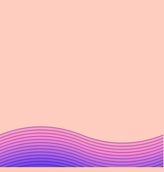 Background template from curved stripes vector