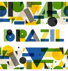 Background with Brazil in abstract geometric style vector image vector image
