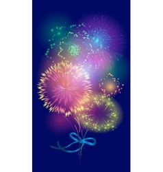 bouquet of fireworks vector image