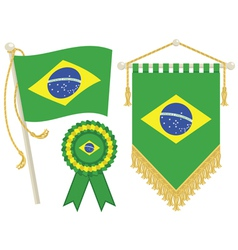 brazil flags vector image vector image