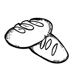 bread doodle vector image vector image