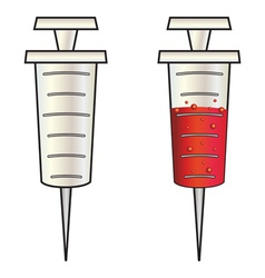 Cartoon syringe vector image