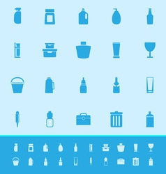 Design package color icons on blue background vector