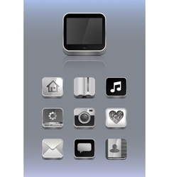 Detailed icons for smartphone vector
