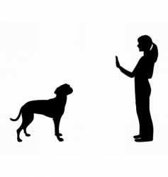 dog training vector image vector image