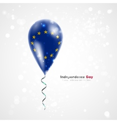 European Union flag on balloon vector image