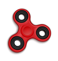 Fidget spinner hand rotation antistress toy for vector