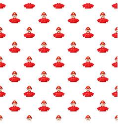 Fireman pattern seamless vector