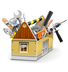 House toolbox vector
