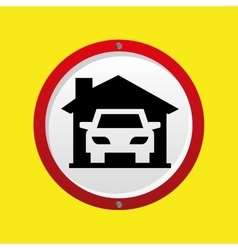 Insurance car home icon vector