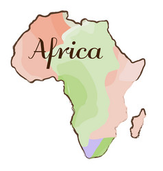 Isolated map of africa vector