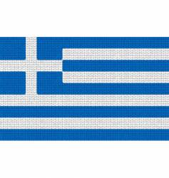 knitted Greece flag vector image
