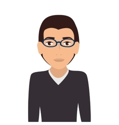 man guy boy person glasses vector image