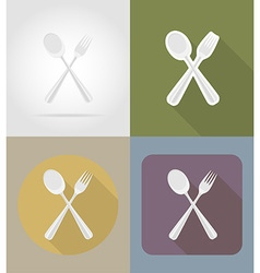 objects for food flat icons 05 vector image vector image