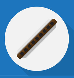 of mp3 symbol on clarinet flat vector image
