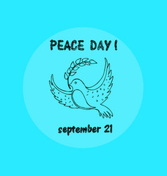 peace day september 21 on vector image vector image