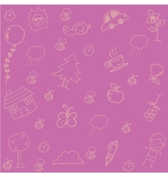 Pink Backgrounds doodle art vector image vector image