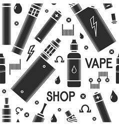 Seamless vape pattern vector