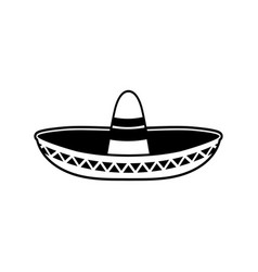 Sombrero flat icon national mexican hat cap in vector