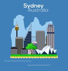 sydney city icon vector image vector image